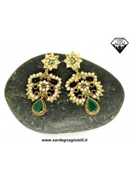 orecchini smeraldi